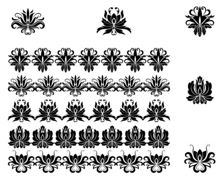 Flower patterns and borders for design and ornate Stock Vector - 7132120