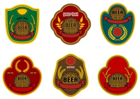 Set of beer labels for decorate and design Vector