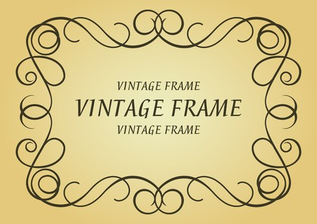 Swirl frame in victorian style for design as a background Vector