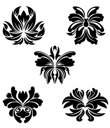 Flower patterns  for design and ornate isolated on white Stock Vector - 7132106
