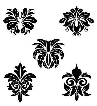 Flower patterns for design and ornate isolated on white Stock Vector - 7132123