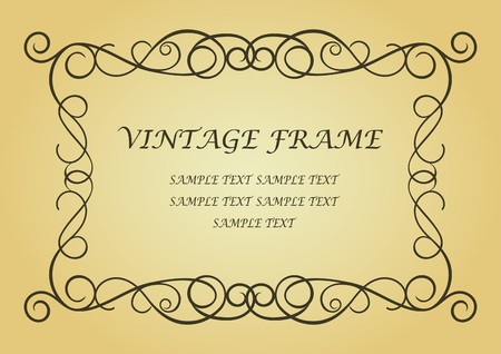 Swirl vintage frame for design as a background Stock Vector - 7164849