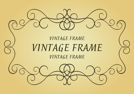 Swirl vintage frame for design as a background Stock Vector - 7164848