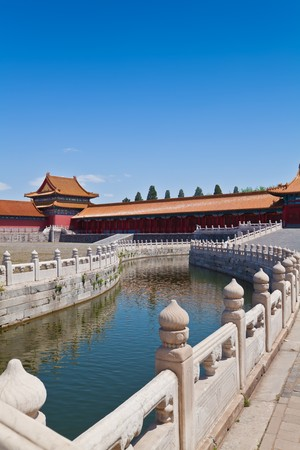 Beautiful landscape of bridge and river in Forbidden city Stock Photo - 7219668