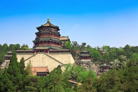 Ancient temple on high mountain in China Summer Palace Stock Photo - 7219664