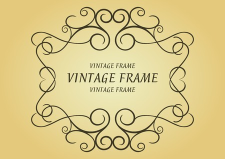 Swirl vintage frame for design as a background Stock Vector - 7219662