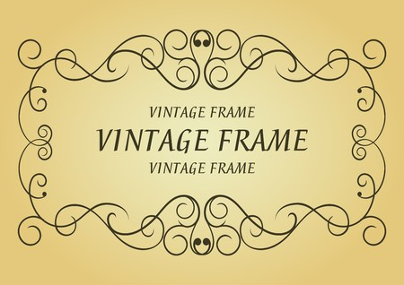 Swirl vintage frame for design as a background Stock Vector - 7219663