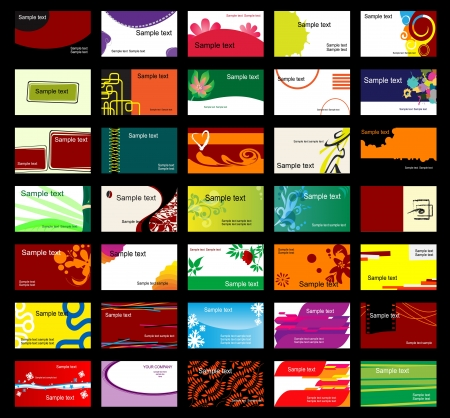 Set of various business cards for design Vector
