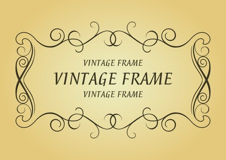 Swirl vintage frame for design as a background Vector