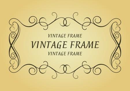 Swirl vintage frame for design as a background Vector