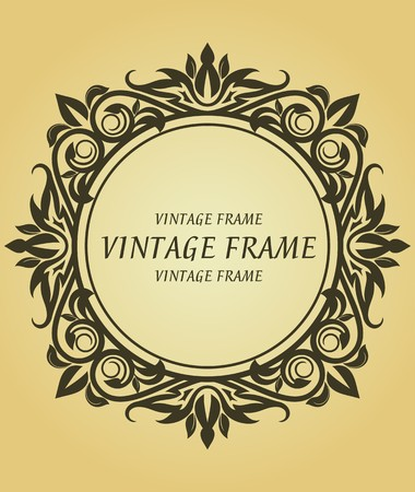 Vintage frame in victorian style for design as a background Stock Vector - 7248422