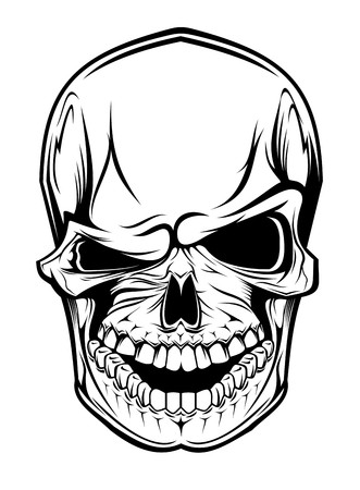 Danger skull as a warning or evil concept Vector
