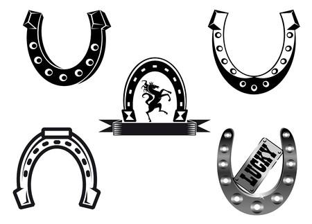 herradura: Conjunto de elementos de herraduras para suerte de conceptos de dise�o  Vectores