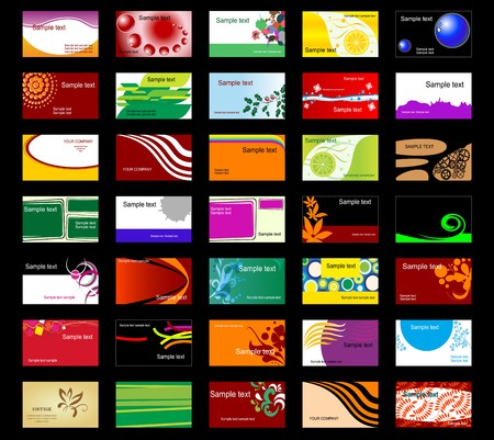 Set of various business cards for design Stock Vector - 7248440