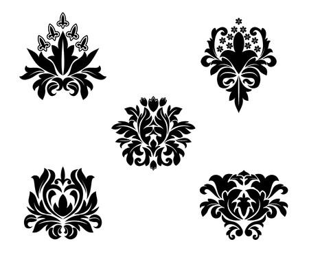 Black flower patterns for design and ornate Stock Vector - 7248416