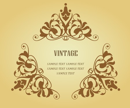 Vintage frame in victorian style for design as a background Stock Vector - 7248423