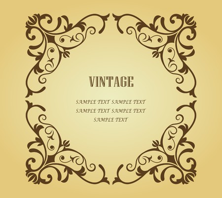 Vintage frame in victorian style for design as a background Stock Vector - 7248432