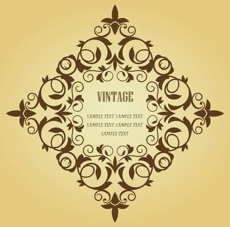 Vintage frame in victorian style for design as a background Vector