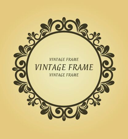 Vintage frame in victorian style for design as a background Stock Vector - 7248426