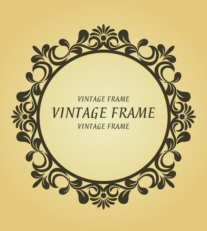 Vintage frame in victorian style for design as a background Stock Vector - 7248425