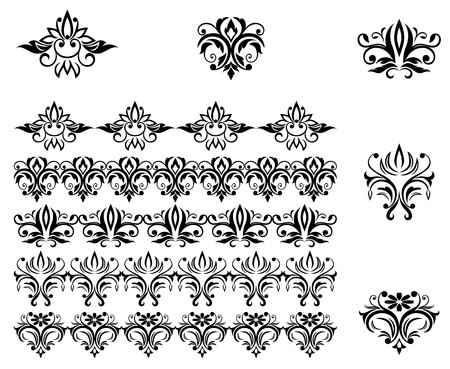 Flower patterns and borders for design and ornate Stock Vector - 7248486