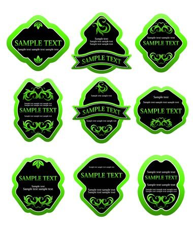 Set of labels for design food and beverages Stock Vector - 7248509