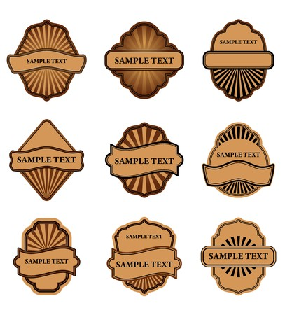 Set of brown labels for design food and beverages Stock Vector - 7248502