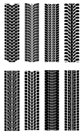 tire: Set of tire shapes isolated on white for design Illustration