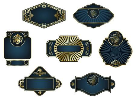 Set of vintage labels for design food and beverages Stock Vector - 7248503
