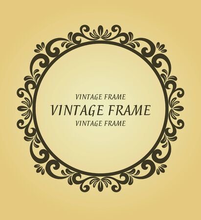 Vintage frame in victorian style for design as a background Stock Vector - 7248479