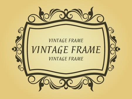 Vintage frame in victorian style for design as a background Stock Vector - 7248458