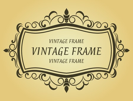 Vintage frame in victorian style for design as a background Stock Vector - 7248471