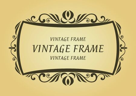 Vintage frame in victorian style for design as a background Stock Vector - 7248460