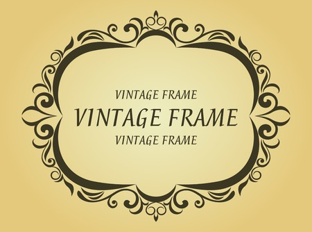 Vintage frame in victorian style for design as a background Stock Vector - 7248473