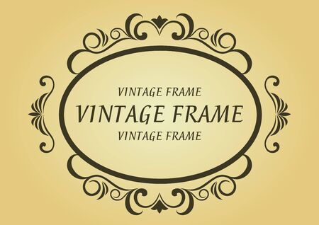 victorian scroll: Vintage frame in victorian style for design as a background Illustration