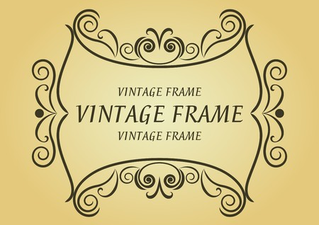 Vintage frame in victorian style for design as a background Stock Vector - 7248454