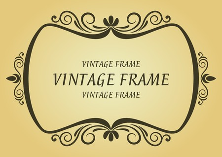 Vintage frame in victorian style for design as a background Stock Vector - 7248453