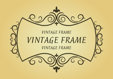 Vintage frame in victorian style for design as a background Stock Vector - 7248455
