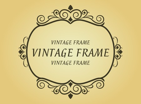 Vintage frame in victorian style for design as a background Stock Vector - 7248472