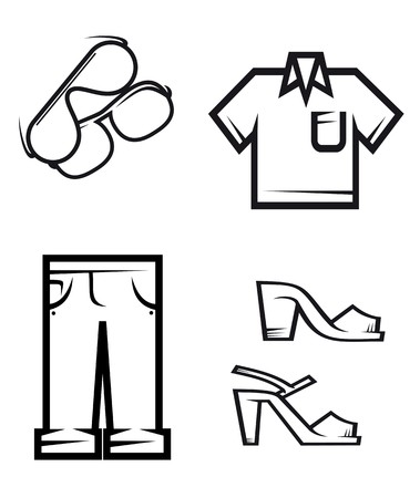 Set of people cloth elements for design Vector