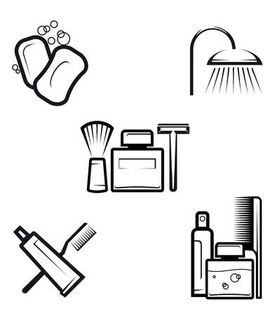 Conjunto de objetos de higiene como un concepto de estilo de vida