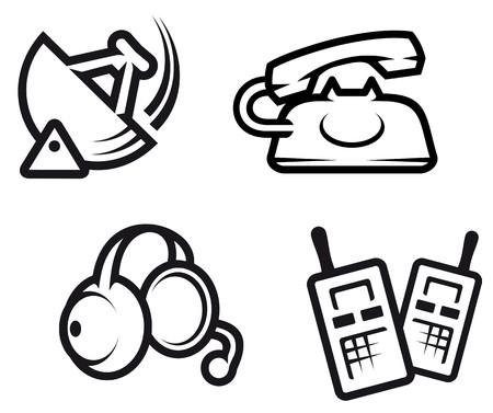 Set of communication symbols for technology design Stock Vector - 7410953