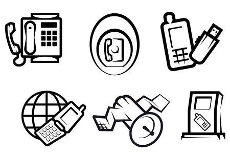 Set of communication and internet symbols for technology design Stock Vector - 7410954