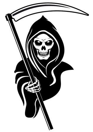 Death sign isolated on white for tattoo design Stock Vector - 7462494