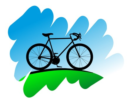 Cycling symbol on white background for design Vector