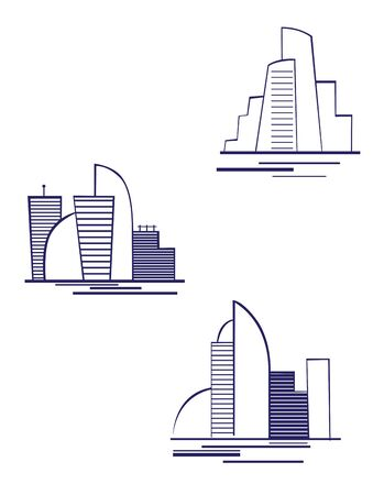 condominium: Real estate symbols for design and decorate Illustration