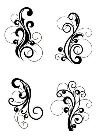 Floral patterns for design isolated on white Stock Vector - 7633704