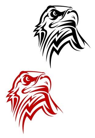 silhouette aquila: Aquila simbolo isolato su bianco per il design  Vettoriali
