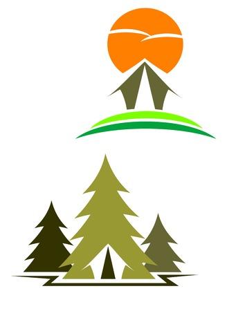 logotipo turismo: S�mbolos de viajes para el dise�o de aislados en blanco