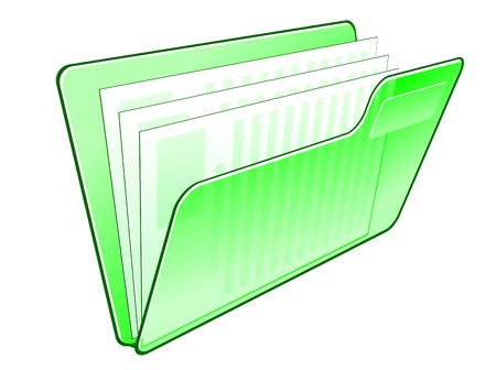 Computer folder icon isolated on wite for web design Stock Vector - 7723112